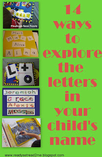 learn the letters in your name ready set read