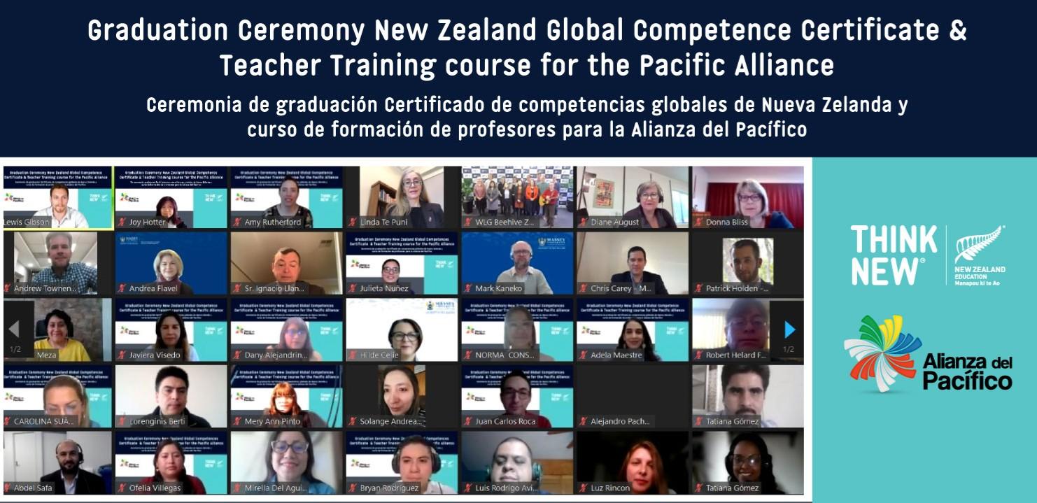 El New Zealand Global  Competence Certificate + Teacher Training graduó 36 participantes