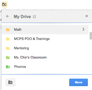 Moving documents in google slides