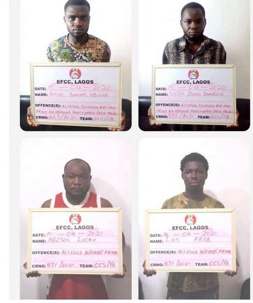 EFCC Arrests 27 Suspected Fraudsters In Lagos (Photos)