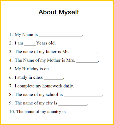 10 lines on myself, about myself, quotes about myself, tell me about yourself essay