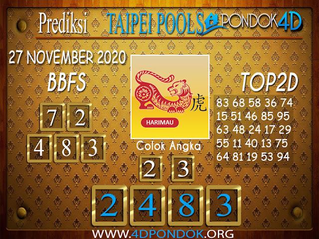 Prediksi Togel TAIPEI PONDOK4D 27 NOVEMBER 2020