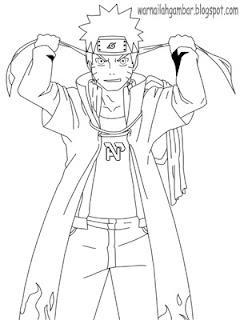 Mewarnai Naruto 1 Mewarnai Gambar