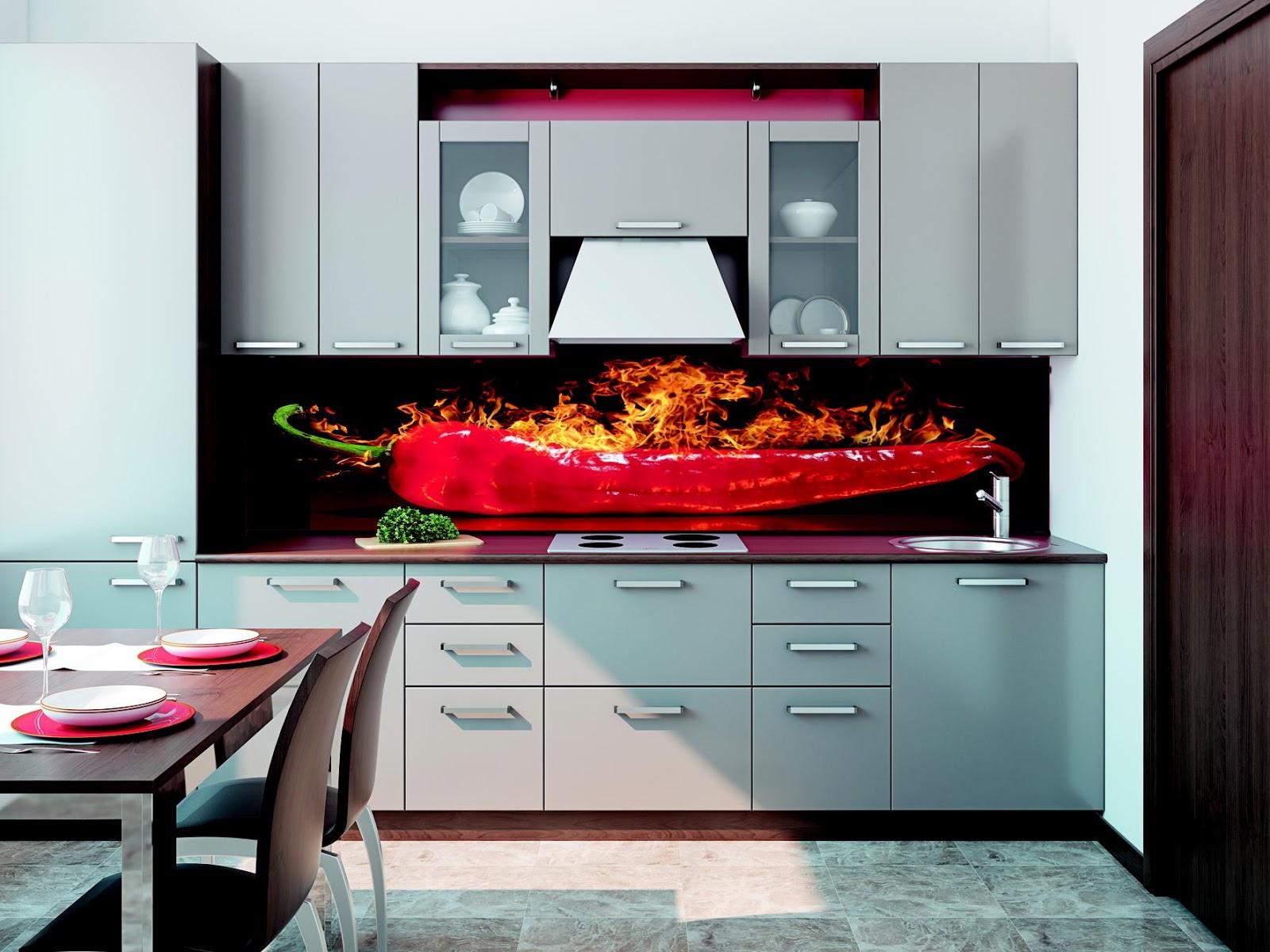 küchenrückwand aus glas mit motiv - home creation - Küchenrückwand Glas Motiv