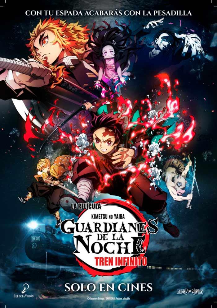 Guardianes de la noche: Tren infinito (Kimetsu no Yaiba: Mugen Train) anime film - Selecta Visión - poster