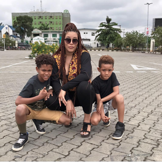 adunni ade and photo of her children,adunni ade kids,