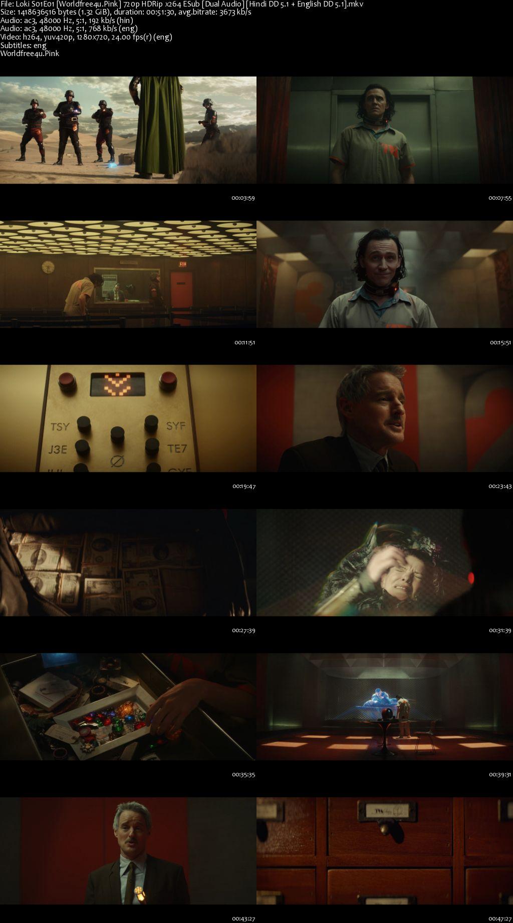 Loki 2021 (Season 1) All Episodes Dual Audio HDRip 720p