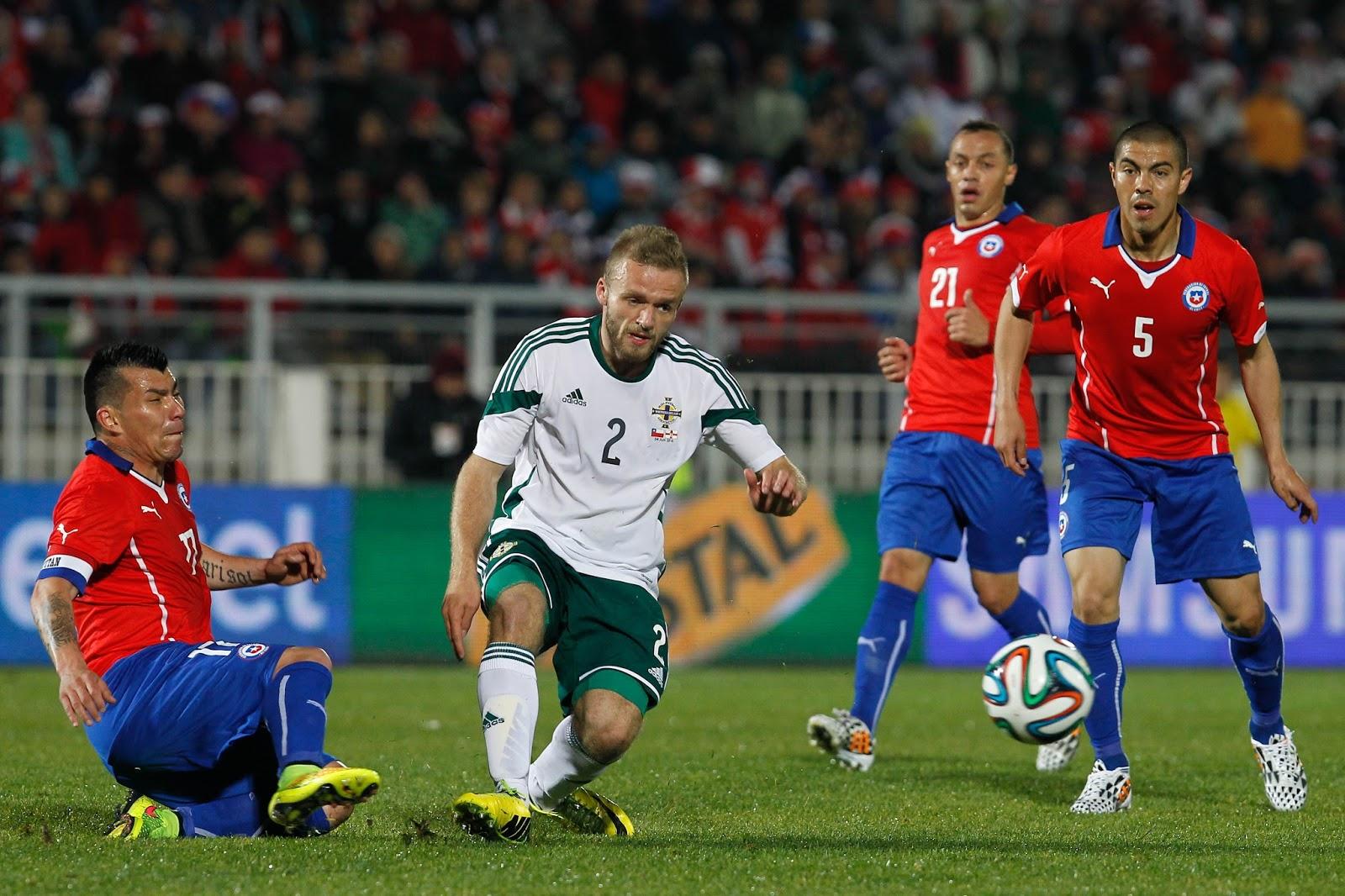 Chile e Irlanda del Norte en partido amistoso, 4 de junio de 2014