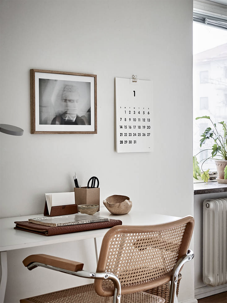 Scandinavian home office inspiration | Stadshem