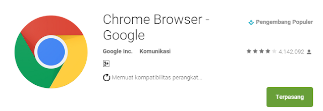 Google Chrome For Android-5 Aplikasi Browser Android Penghemat Kuota Internet