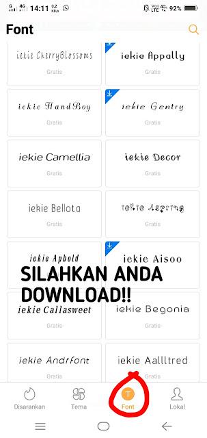 beberapa font yang bisa kita download