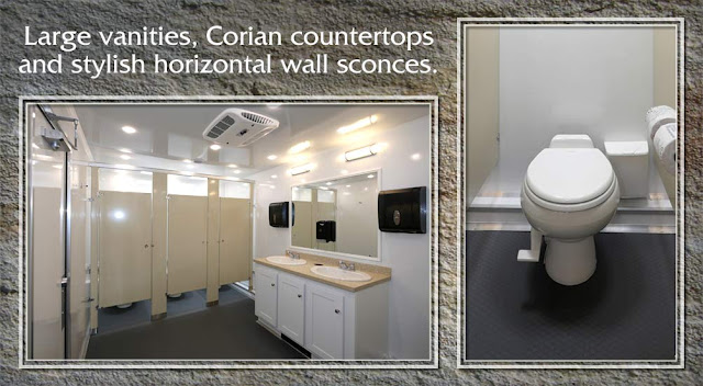 The Sandstone restroom trailer for Construction sites and Jobsites