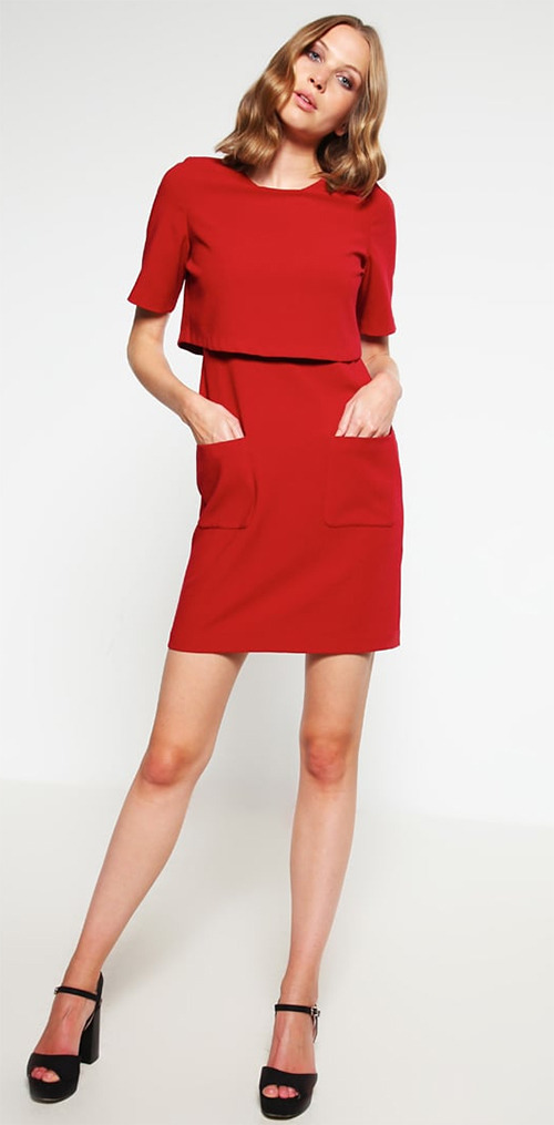 Robe courte de soirée rouge Kiomi