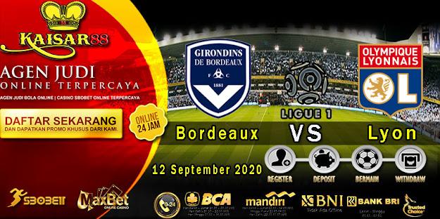Prediksi Bola Terpercaya Liga 1 Prancis Bordeaux Vs Lyon 12 September 2020