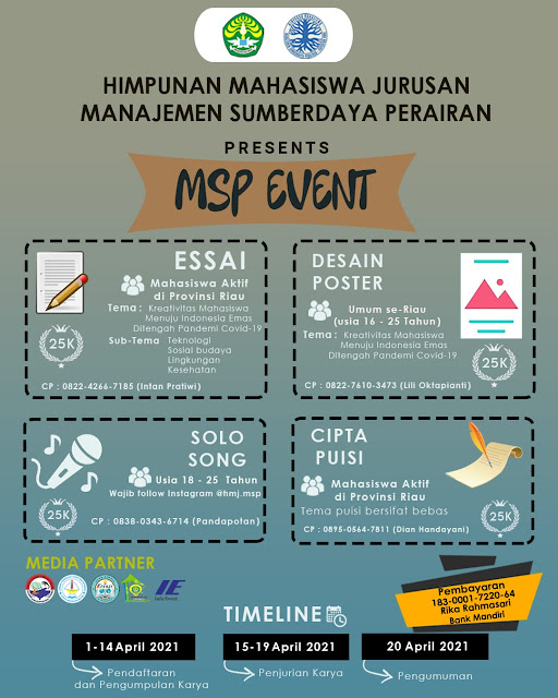 MSP Event ada Lomba Esai dan Puisi