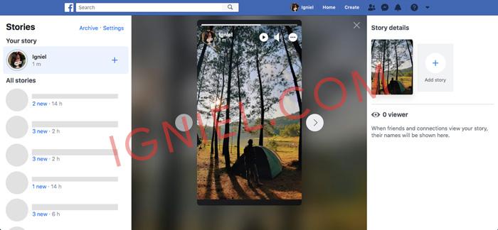 Update Instastory ke Facebook Story