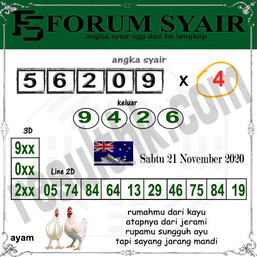 Forum Syair Sidney Sabtu 21 November 2020