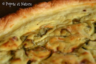 Tarte au brocciu, aux blettes et aux oignons ©Popote et Nature