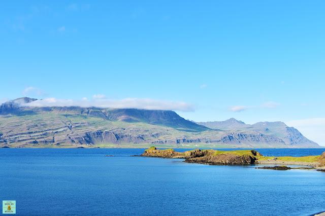 Fiordo Berufjördur en el este de Islandia