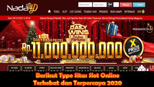 Berikut Type Situs Slot Online Terhebat dan Terpercaya 2020