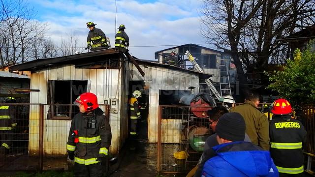 Incendio en vivienda de Osorno