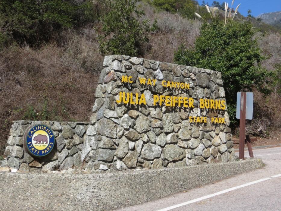 Парк Джулии Пфайффер Бернс в Калифорнии