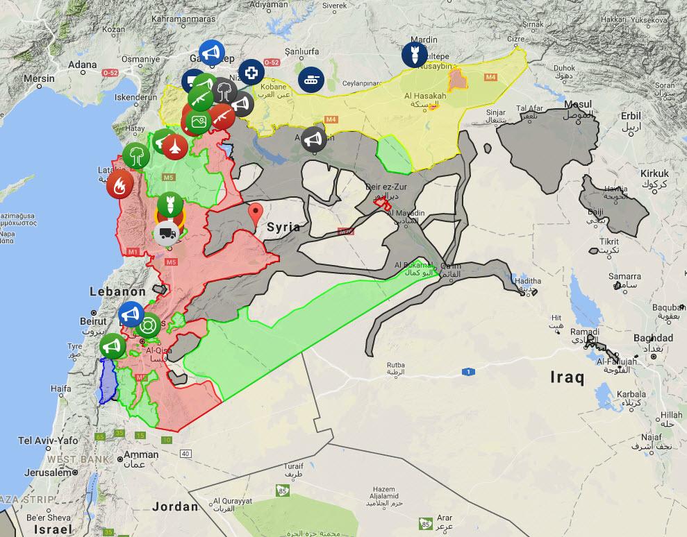 syrien karte aktuell Landkartenblog: Aktuelle Landkarte von Syrien verrät das Syrien