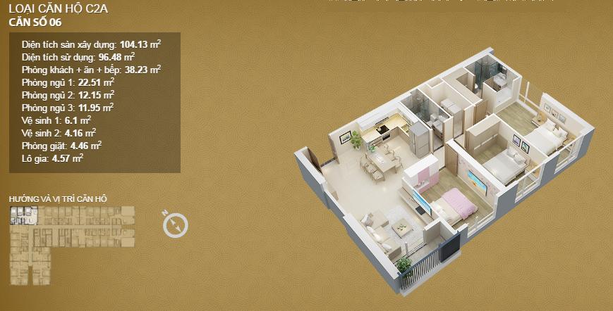Căn hộ 06 tầng 34