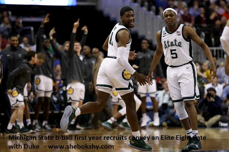 Michigan State b-ball first year recruits convey an Elite Eight date with Duke