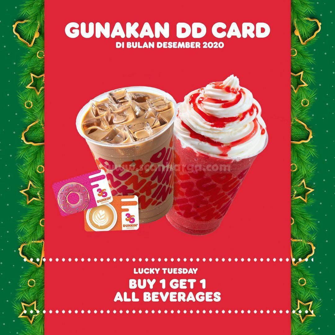 Dunkin Donuts Promo Beli 1 Gratis 1 Dengan DD Card*