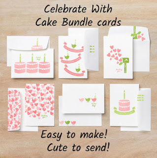 Celebrate With Cake Card Bundle finished cards