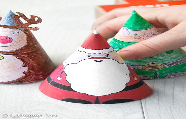 Personagens de Natal 3D - Fantoches de dedo, decorações da árvore, como você vai usar o seu ?