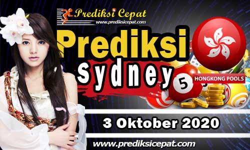 Prediksi Togel Sydney 3 Oktober 2020