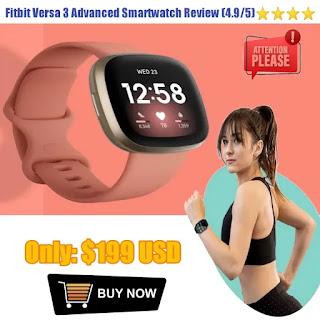 Fitbit Versa 3 Sense Advanced Smartwatch 2021-22