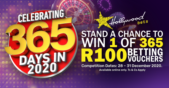 You Could Win 1 of 365 R100 Vouchers