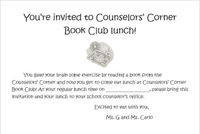 Counselor book club lunch invitation