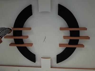 decoration tv salon platre marocaine maison