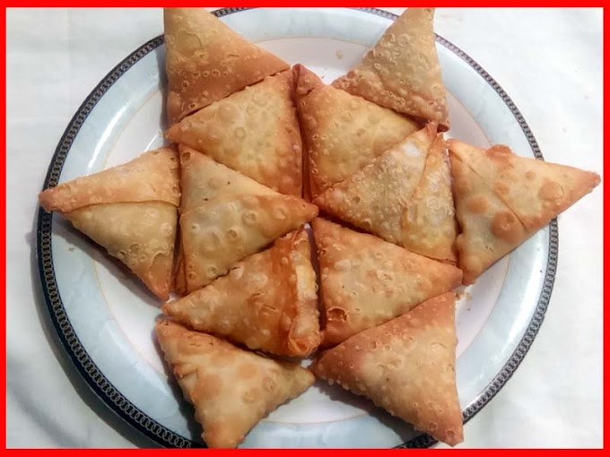 Chicken Shami Kabab Samosa Recipe