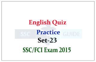 English Quiz – Active/Passive Voice for SSC/FCI Exam