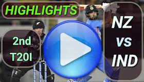 NZ vs IND 2nd T20I 2020