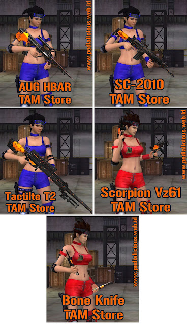 Preview Senjata Rules Seri TAM Store Point Blank Zepetto Indonesia