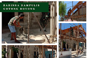 Babinsa Dampulis Gotong Royong Bantu Pemasangan Lesplang Rumah Warga