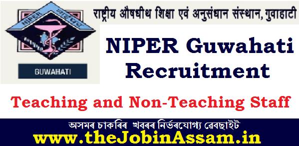 NlPER Guwahati Recruitment 2020