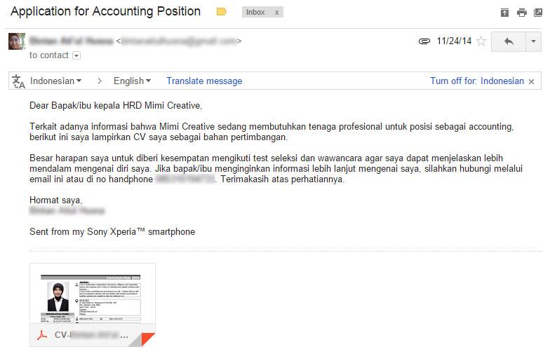 contoh format surat lamaran kerja via email ben jobs