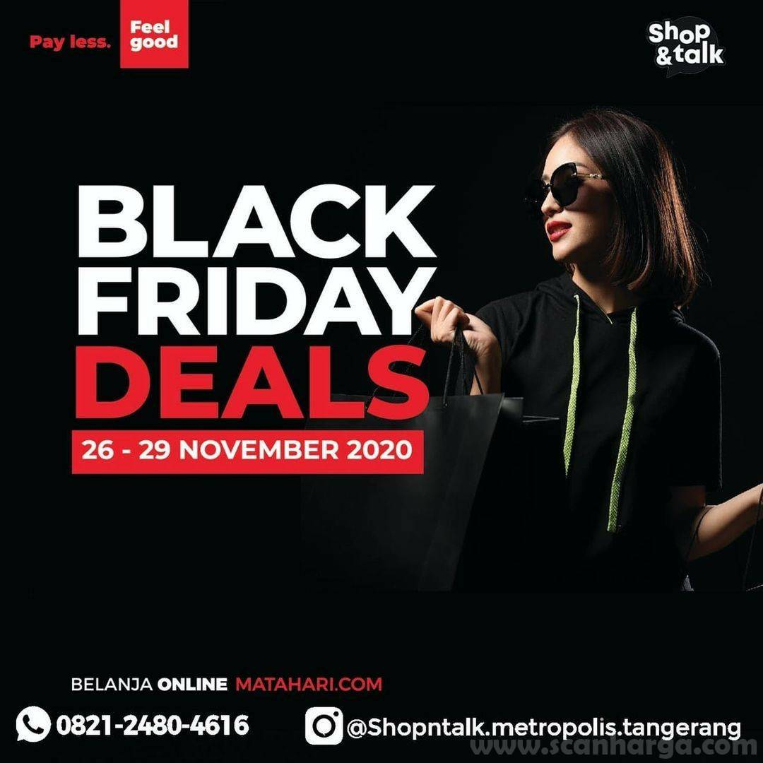 Matahari Promo Black Friday Deals Diskon up to 70% Off