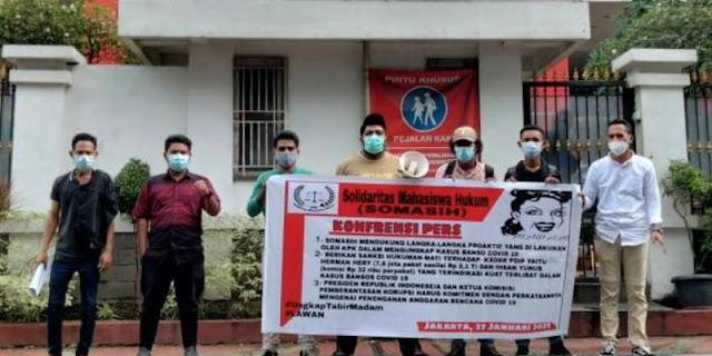Solidaritas Mahasiswa Hukum Desak KPK Telusuri Aliran Uang Korupsi Bansos ke PDIP