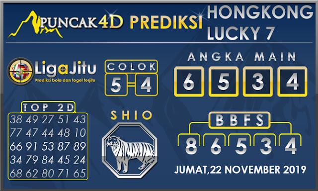 PREDIKSI TOGEL HONGKONG LUCKY7 PUNCAK4D 22 NOVEMBER 2019