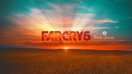 Far Cry 5 - Titre Avec Un Couché De Soleil - Ultra HD 4K 2160p