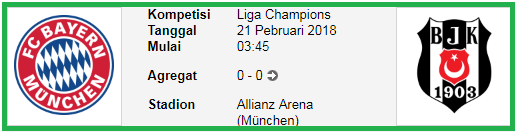 Bocoran Bola Liga Champions Bayern Munchen Vs Besiktas BOCORAN LIGA CHAMPIONS BAYERN MUNCHEN Vs BESIKTAS