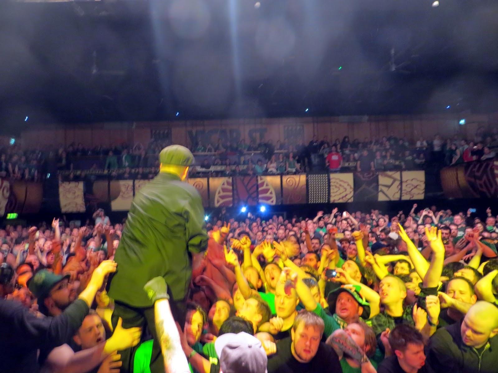 Dublin, Ireland, Eire, St Patrick's day, parade, Guinness, Irish, crazy, Temple Bar, Dropkick Murphys, Al Barr, Ken Casey, Kiss me im shitfaced, On stage, mental, travel